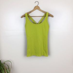 [Athleta] Structured Chartreuse Athletic Tank Top